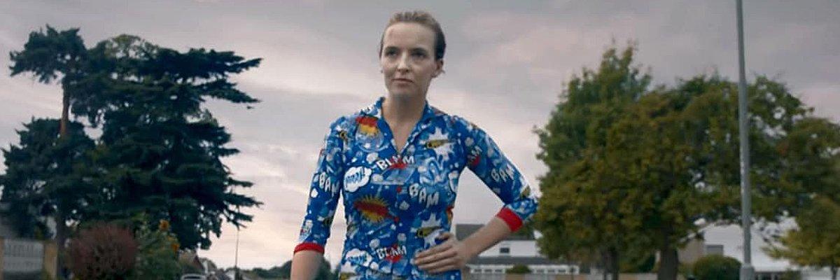 Jodie Komer In Pajamas On Killing Eve