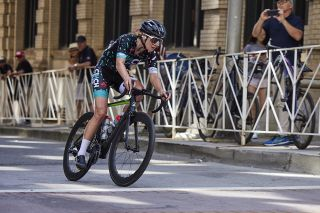 Lauren DeCrescenzo (Cinch Cycling) on the attack in Knoxville