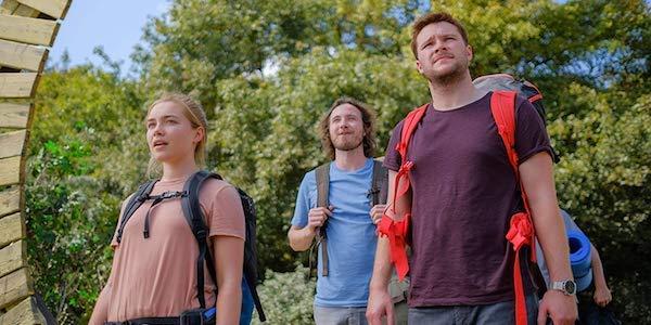 Florence Pugh, Vilhelm Blomgren and Jack Reynor in Midsommar