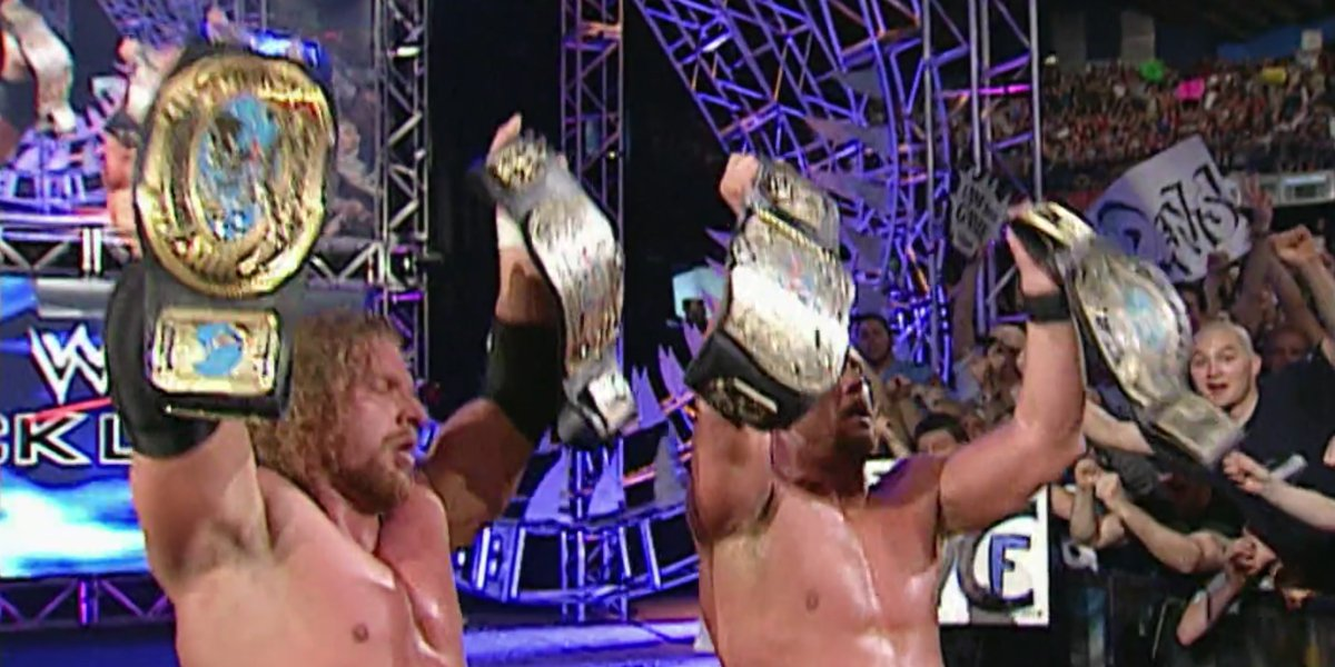 Triple H and Stone Cold Steve Austin at Backlash 2001