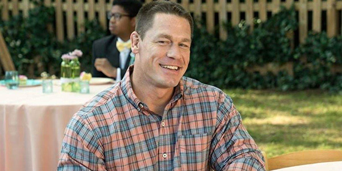 John Cena smiles in Blockers