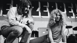 John Bonham and Robert Plant during a rehearsal in Hiroshima, Japan, 1971