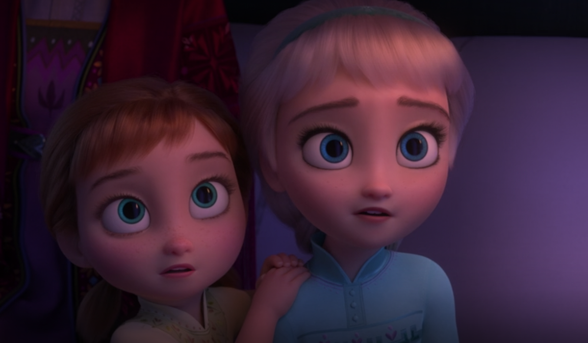 young Anna and Elsa in Frozen 2