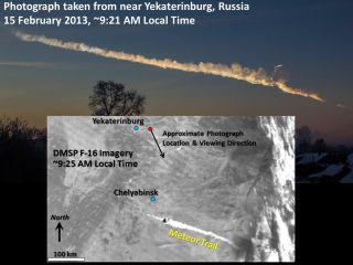 Chelyabinsk Meteor Trail Satellite View