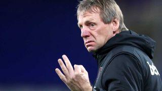 Stuart Pearce gestures on the touchline