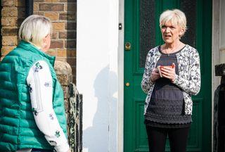 Jean Slater talks to Mo Harris in EastEnders