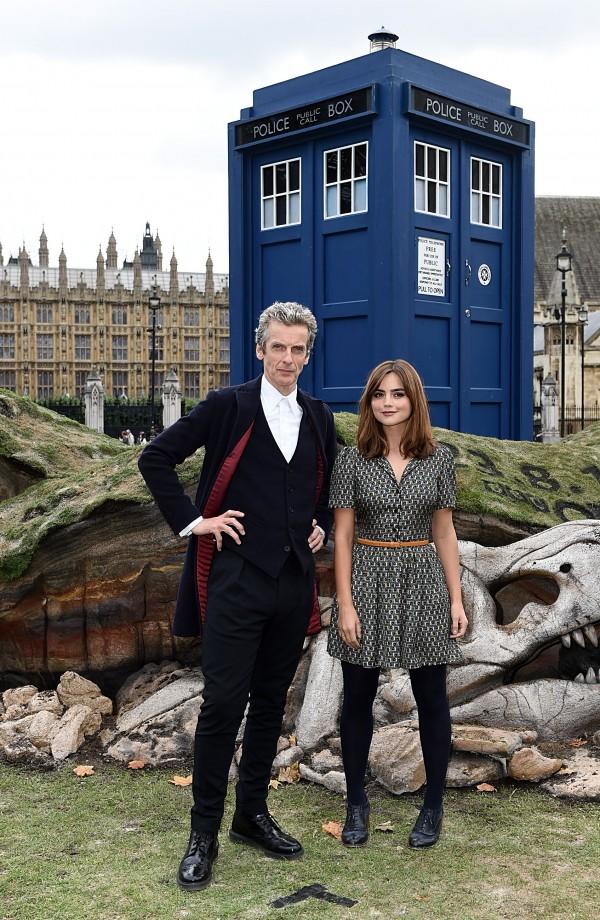 Peter Capaldi Jenna Coleman Doctor Who