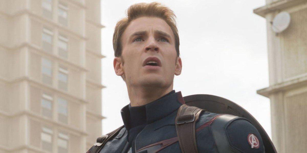 Chris Evans as Steve Rogers/Captain America in Avengers: Age of Ultorn (2015)