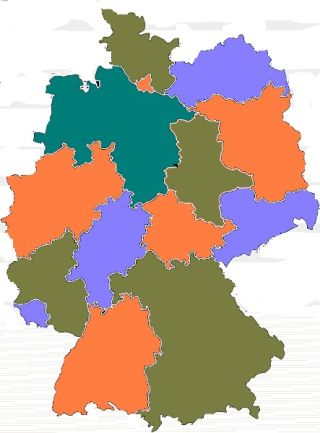 A map of Germany illustrates the four color theorem