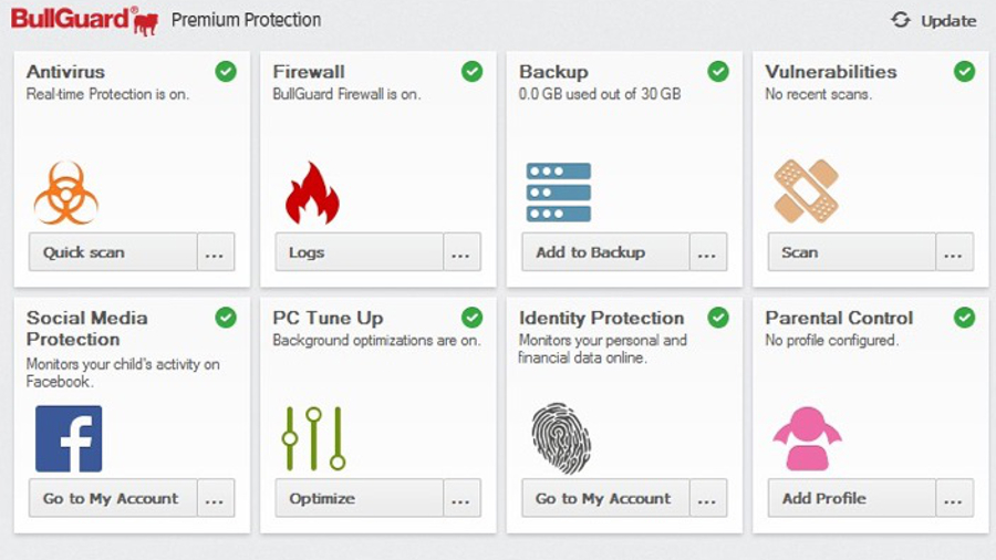 BullGuard Premium Protection gives you identity protection, online backup facilities and much more