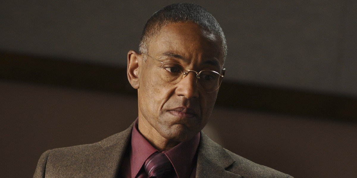 Gus Fring (Giancarlo Esposito) is not pleased on Breaking Bad