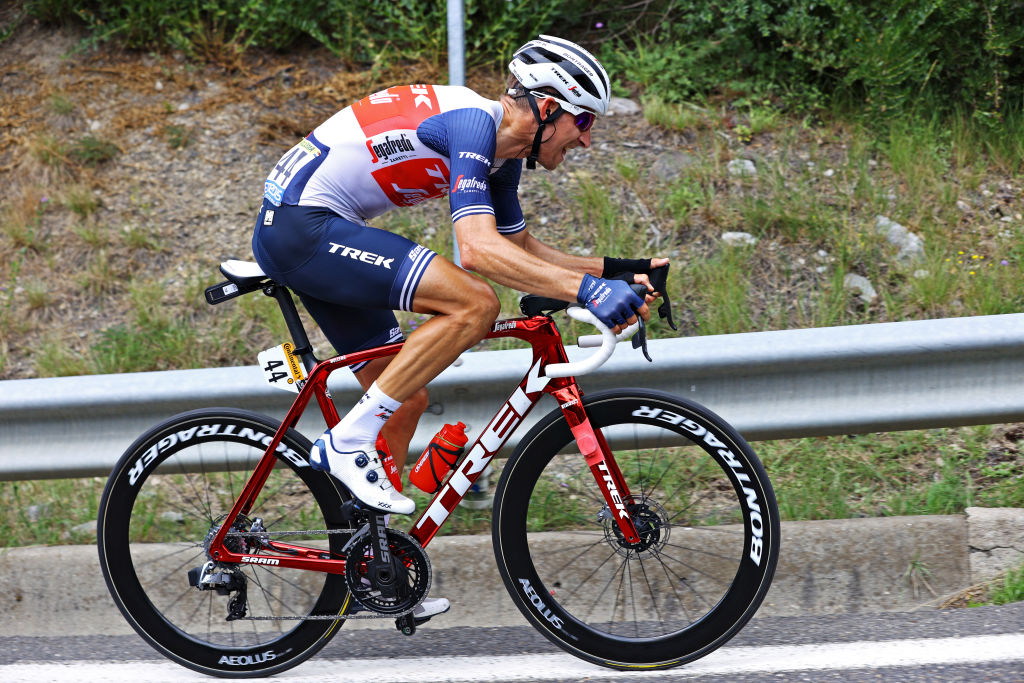 QUILLAN FRANCE JULY 10 Bauke Mollema of The Netherlands and Team Trek Segafredo in the Breakaway during the 108th Tour de France 2021 Stage 14 a 1837km stage from Carcassonne to Quillan LeTour TDF2021 on July 10 2021 in Quillan France Photo by Tim de WaeleGetty Images