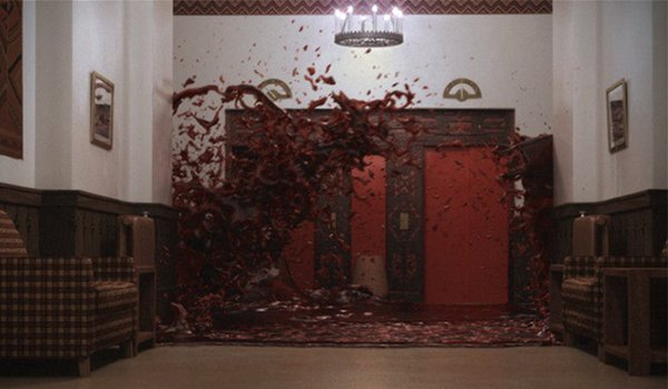 Blood gushed from the elevator in The Shining