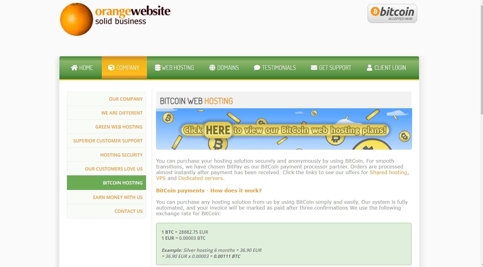 OrangeWebsite's homepage