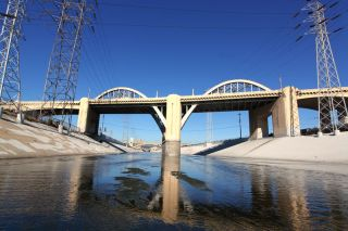Los Angeles River at Sixth Street viaduct