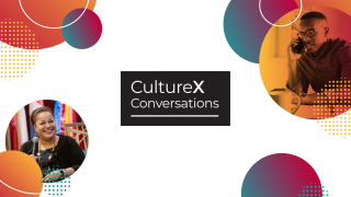 CultureX Conversations key art.