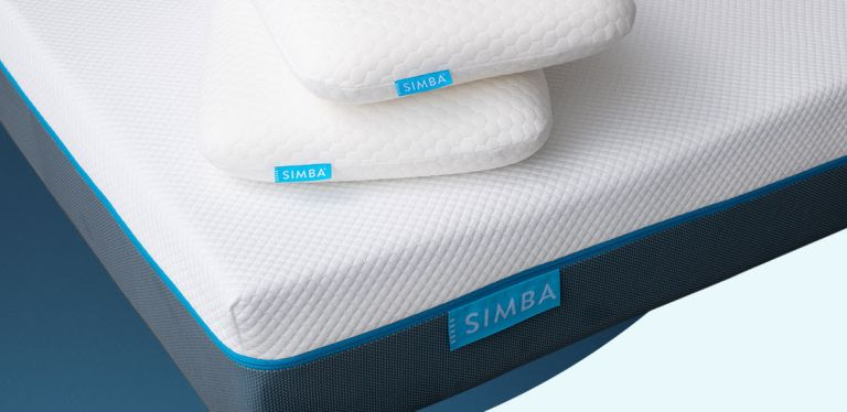 simba mattress deal: mattress with memory foam pillows on top