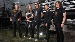 A photograph of Opeth at Bloodstock festival 2015