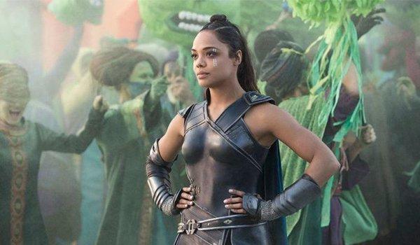 Tessa Thompson as Valkyrie in The Avengers: Endgame