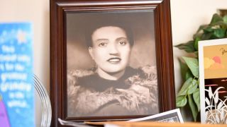 A photo of Henrietta Lacks, sits in the living room of her grandson, Ron Lacks, 57, n Baltimore, MD on March 22, 2017
