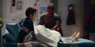 Fred Savage strapped to a bed in Once Upon a Deadpool