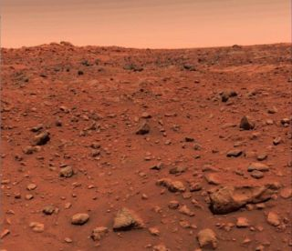 Viking 1's First Color Photo of Mars