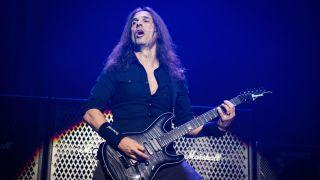 Kiko Loureiro performing live with Megadeth