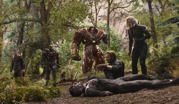 The Avengers reeling from the battle with Thanos