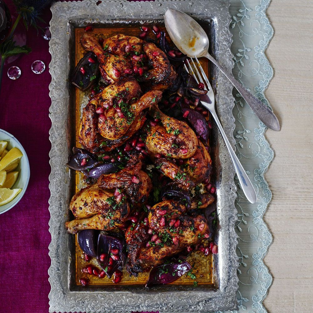 Try our poussin and harissa all-in-one traybake flavoured with tasty Middle Eastern spices
