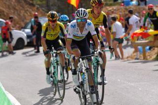 Alejandro Valverde on the attack
