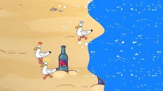 The Beach seagull battle royale