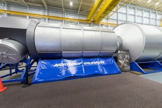 Northrop Grumman's full-scale ground mock-up of their deep-space habitat prototype.