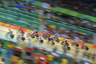 Cycling: 31st Rio 2016 Olympics / Track Cycling: Women's Omnium Points Race 6\6 Illustration / Peloton / Rio Olympic Velodrome / Summer Olympic Games / © Tim De Waele