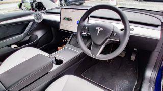 Tesla Model 3 front seat interior