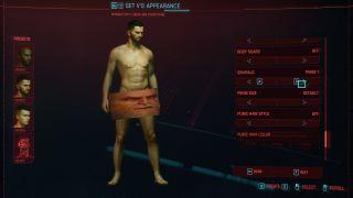 Cyberpunk 2077 character customisation