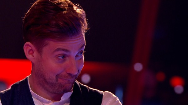 Ricky Wilson watches the spat unfold on The Voice