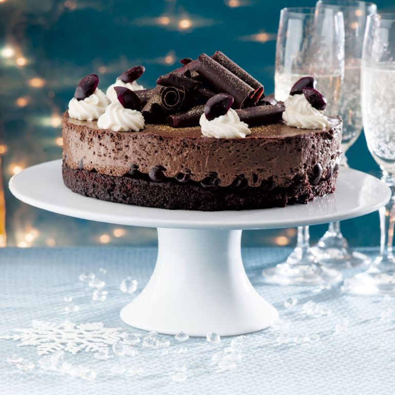 Photo of Cherry chocolate mousse cake