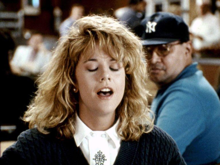 """Meg Ryan, """"When Harry Met Sally"""" (1989), orgasm hack"""