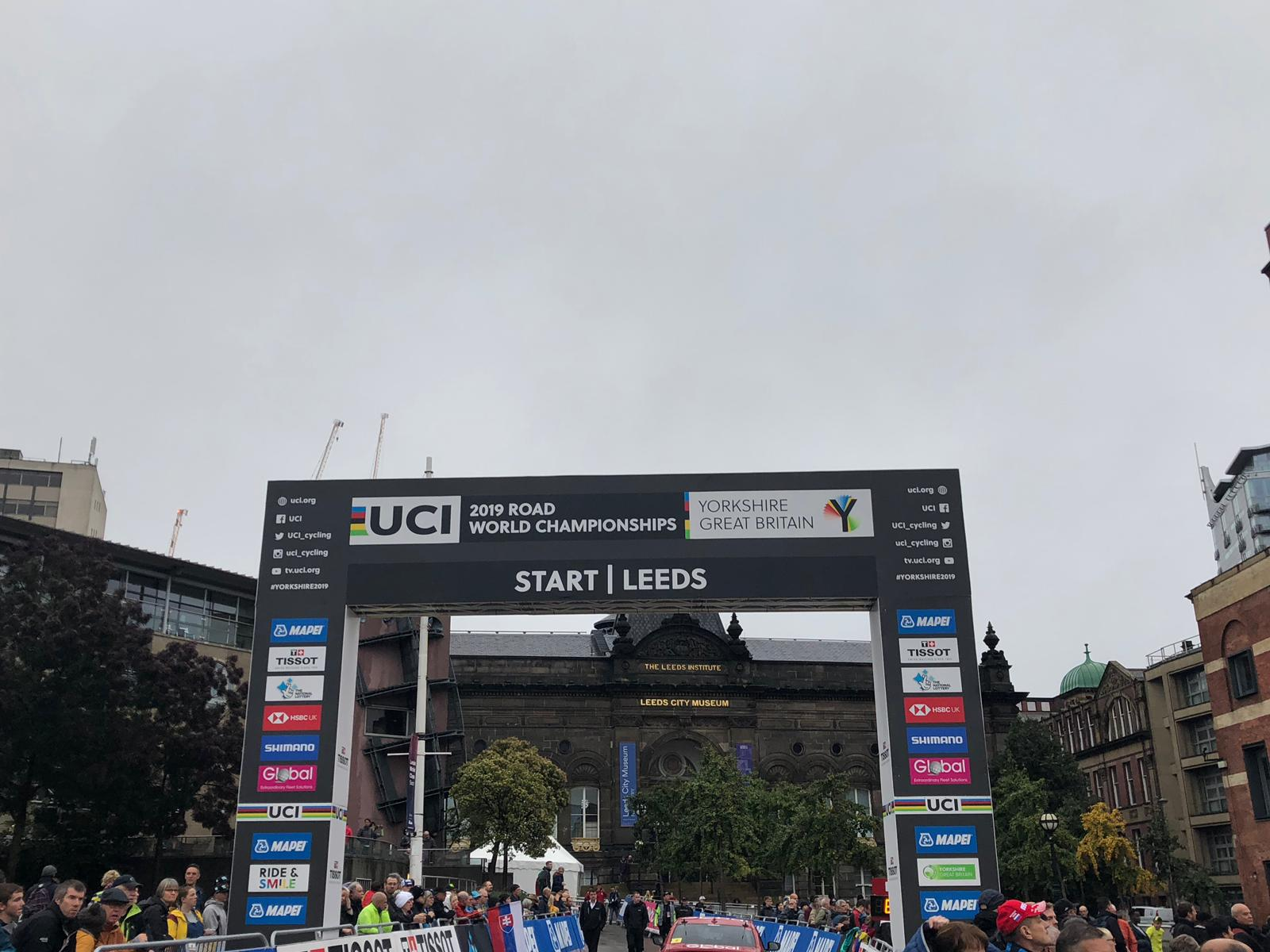 Grey skies above Leeds at the start