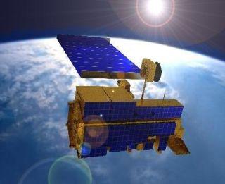 Artist's rendering of the Terra satellite.