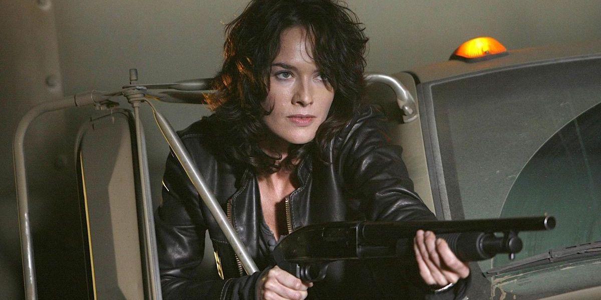 Lena Headey in Terminator: the Sarah Connor Chronicles