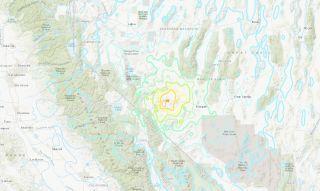 The magnitude-6.5 earthquake happened near the Nevada-California border.