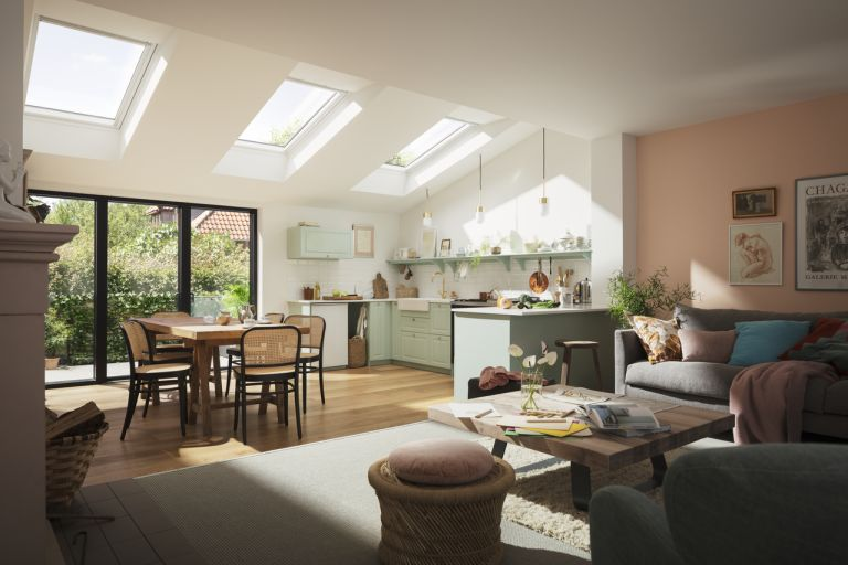 Velux kitchen extension with three rooflights