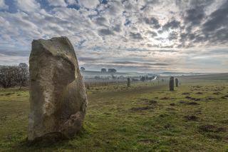 Stones in Avebury stone circle.