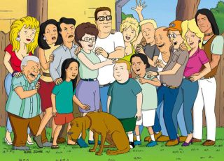 The main cast of 'King of the Hill'
