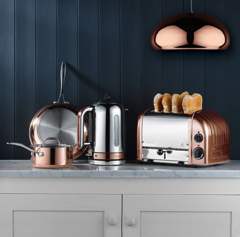 best kettle: Dualit copper kitchen accessories