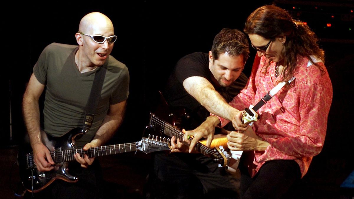 Steve Vai and John Petrucci guest on Joe Satriani's new lockdown guitar livestream