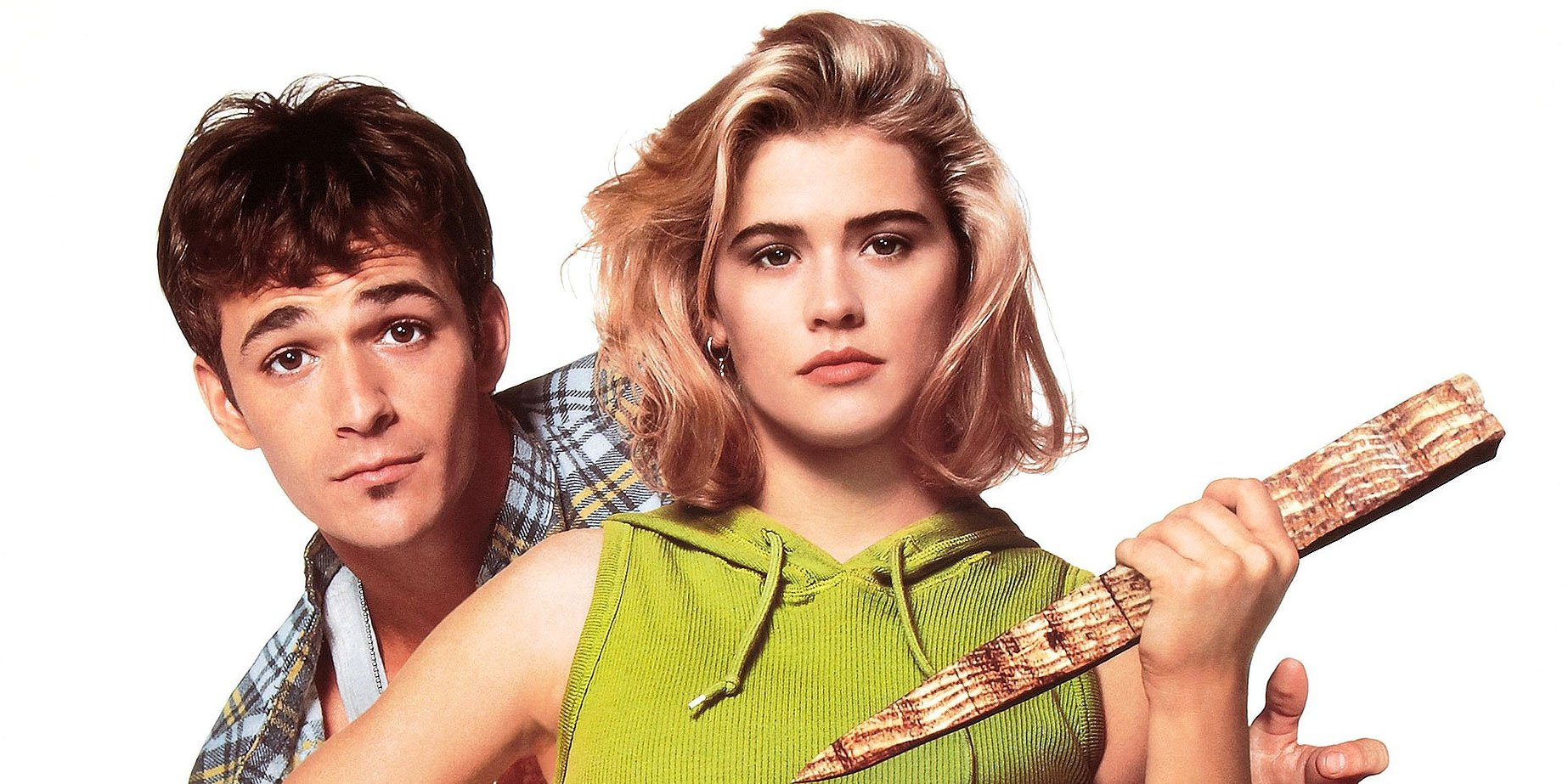 Kristy Swanson and Luke Perry