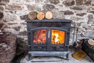A wood burning stove, updated technology
