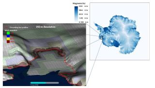 A simulation of the retreating Amundsen Sea Embayment